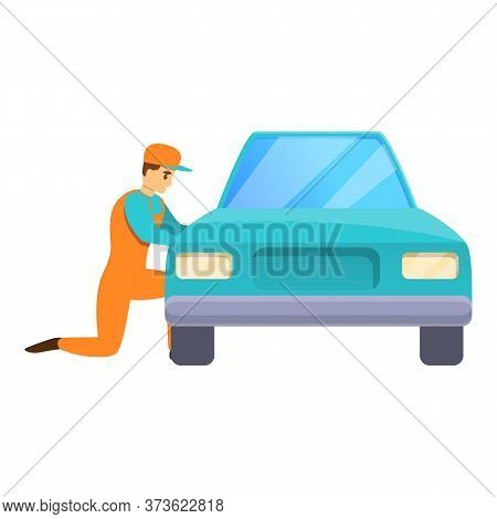 Car Mechanic Icon. Cartoon Of Car Mechanic Vector Icon For Web Design Isolated On White Background