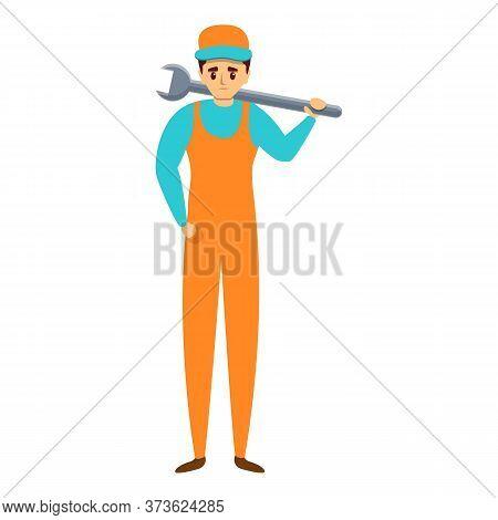 Auto Mechanic Wrench Key Icon. Cartoon Of Auto Mechanic Wrench Key Vector Icon For Web Design Isolat
