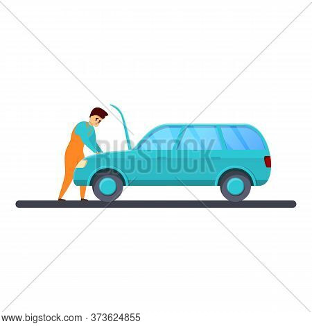 Mechanic Car Repair Icon. Cartoon Of Mechanic Car Repair Vector Icon For Web Design Isolated On Whit