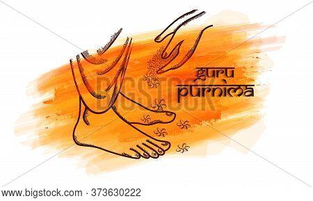 Sketching Vector Illustration For The Day Of Honoring Celebration Guru Purnima.