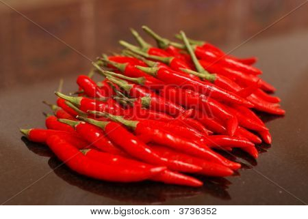 Collection Of Red Chillies