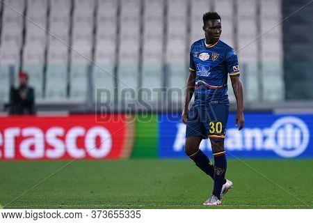 Torino (italy) 26th June 2020. Italian Serie A. Juventus Fc Vs Us Lecce. Khouma Babacar Of Us Lecce