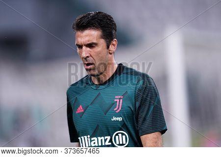 Torino (italy) 26th June 2020. Italian Serie A. Juventus Fc Vs Us Lecce. Gianluigi Buffon Of Juventu