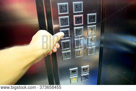 Salvador, Bahia / Brazil - June 27, 2020: Elevator Keys In A Condominium Building In The Cabula Neig