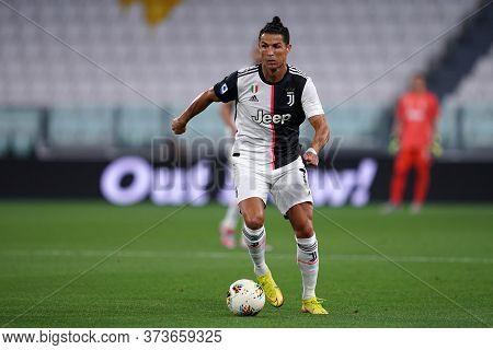 Torino (italy) 26th June 2020. Italian Serie A. Juventus Fc Vs Us Lecce. Cristiano Ronaldo Of Juvent