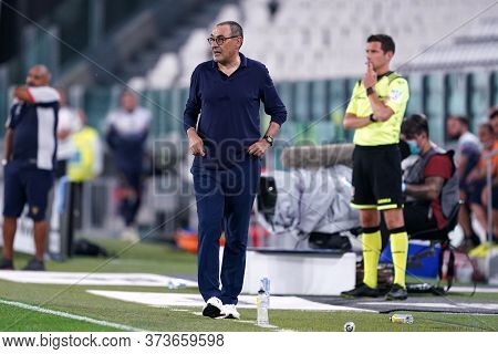 Torino (italy) 26th June 2020. Italian Serie A. Juventus Fc Vs Us Lecce. Maurizio Sarri , Head Coach