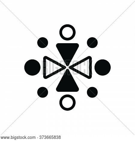 Black Solid Icon For Ingathering Gathered Conjunct United Aggregate Collected