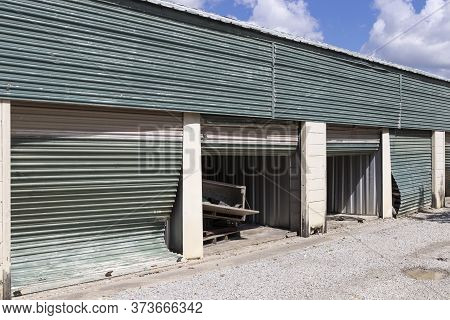 Deserted And Abandoned Self Storage And Mini Storage Garage Units.