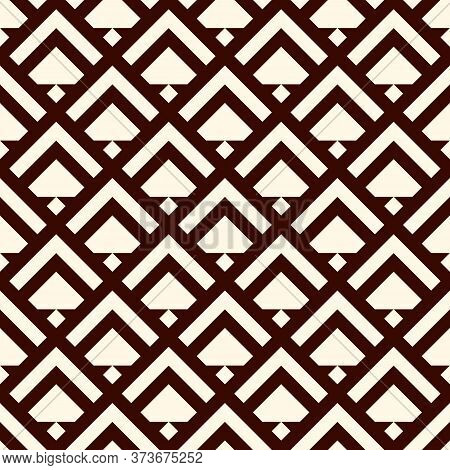 Arrows, Scales Seamless Pattern. Ethnic Tribal Print. Squama, Chevrons Ornament. Arrowhead, Triangul