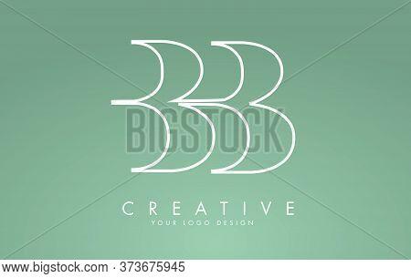 Outline Bb B Letters Logo Design. Long Tail Effect Vector Illustration Sign.