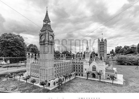 Brussels, Belgium - June 2018: Big Ben And Westminster Palace In Mini Europe Park
