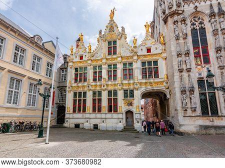 Bruges, Belgium - June 2019: Liberty Of Brugge Museum On Burg Square