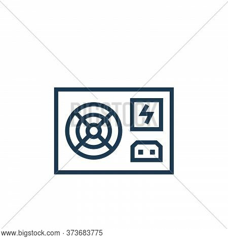 power supply icon isolated on white background from hardware collection. power supply icon trendy an