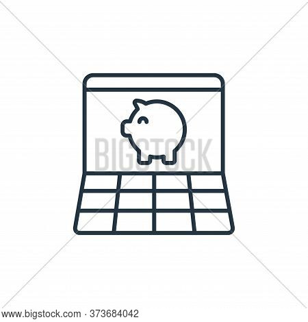 online banking icon isolated on white background from retirement collection. online banking icon tre