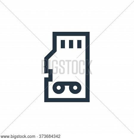 memory card icon isolated on white background from news collection. memory card icon trendy and mode