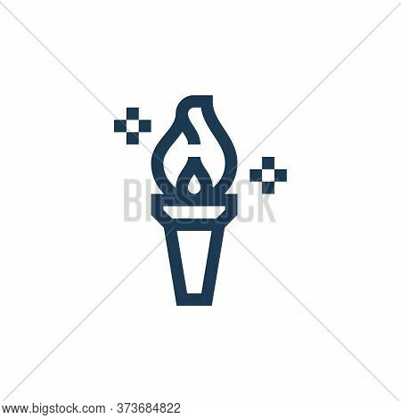 torch icon isolated on white background from management collection. torch icon trendy and modern tor