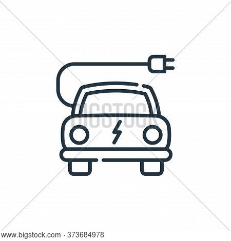 electric car icon isolated on white background from climate change collection. electric car icon tre