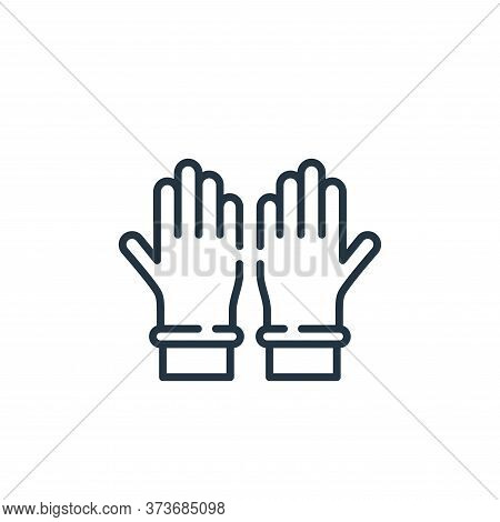 rubber gloves icon isolated on white background from hygiene routine collection. rubber gloves icon
