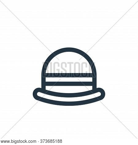 bowler hat icon isolated on white background from england collection. bowler hat icon trendy and mod