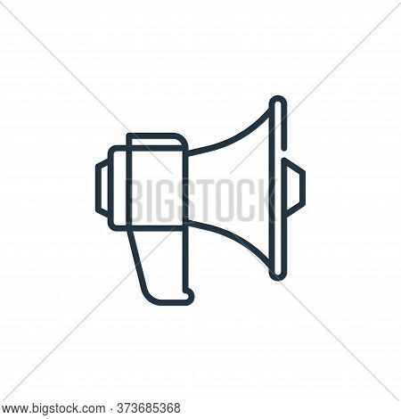 megaphone icon isolated on white background from management collection. megaphone icon trendy and mo