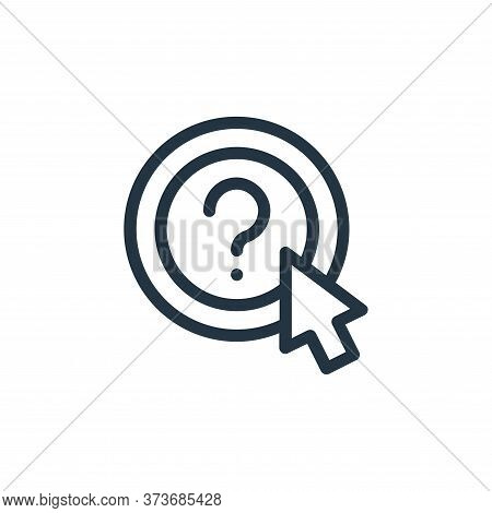 question icon isolated on white background from online learning collection. question icon trendy and