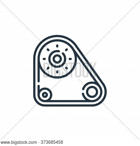 timing belt icon isolated on white background from auto racing collection. timing belt icon trendy a