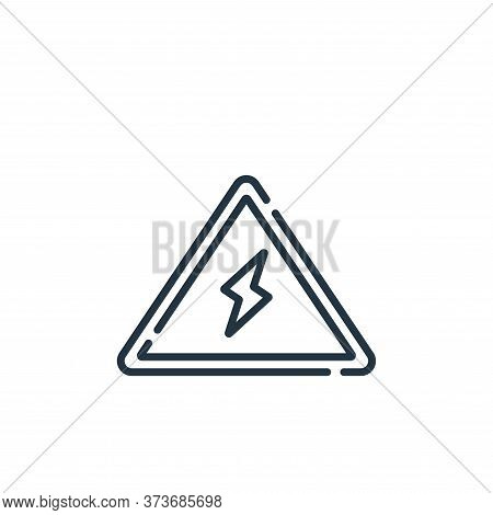 electricity sign icon isolated on white background from electrician tools and elements collection. e