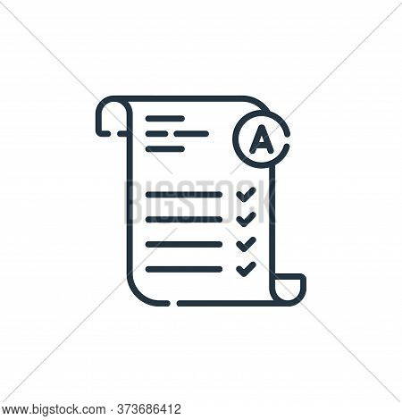 exam icon isolated on white background from academy collection. exam icon trendy and modern exam sym
