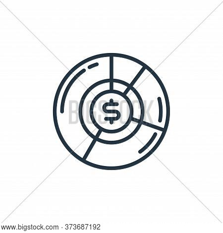 pie graph icon isolated on white background from money and currency collection. pie graph icon trend