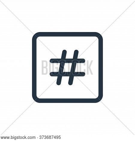 Hashtag Vector Icon From Web Apps Seo Collection Isolated On White Background