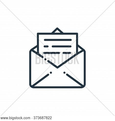 email icon isolated on white background from online learning collection. email icon trendy and moder