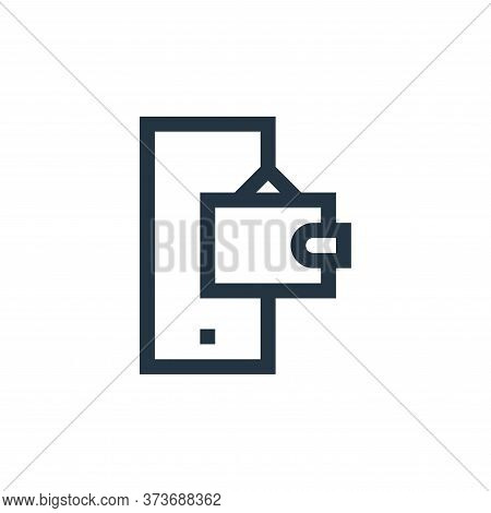 mobile banking icon isolated on white background from payment collection. mobile banking icon trendy