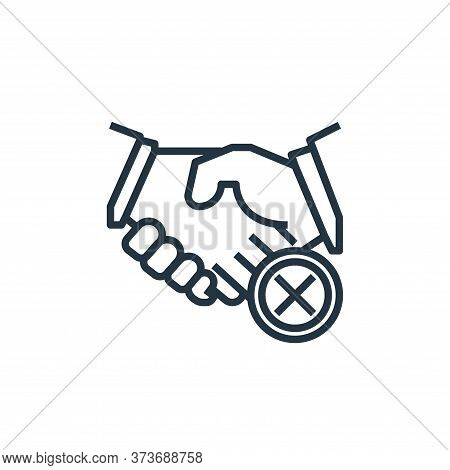 shaking hands icon isolated on white background from wash hands collection. shaking hands icon trend