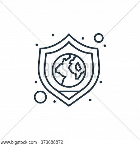 save the planet icon isolated on white background from earth day collection. save the planet icon tr