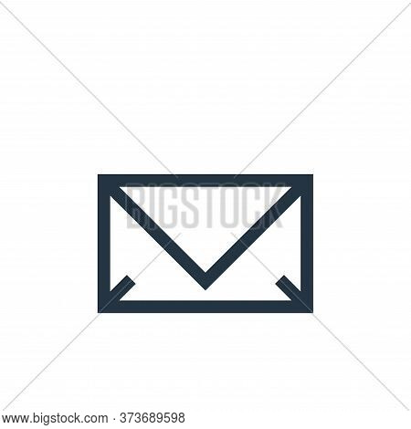 email icon isolated on white background from web essentials collection. email icon trendy and modern