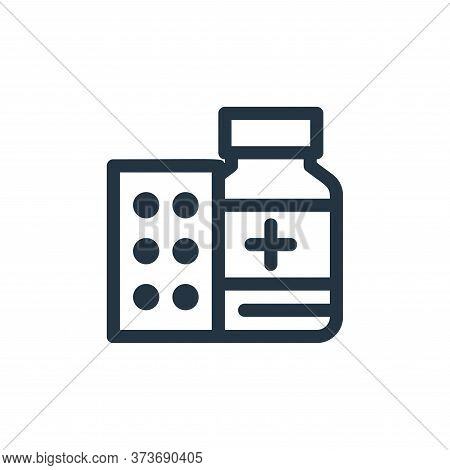 medicine drug icon isolated on white background from medical tools collection. medicine drug icon tr