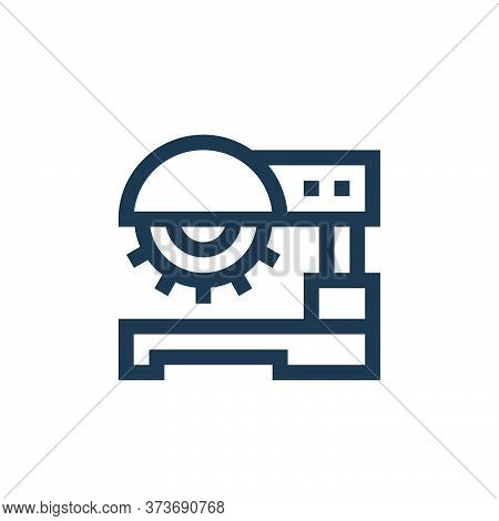 saw machine icon isolated on white background from manufacturing collection. saw machine icon trendy