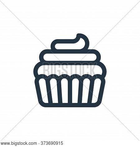 cupcake icon isolated on white background from england collection. cupcake icon trendy and modern cu
