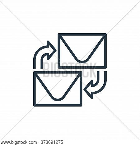 email icon isolated on white background from branding collection. email icon trendy and modern email