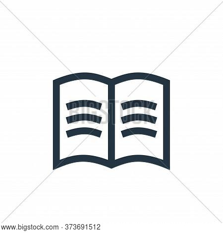 open book icon isolated on white background from management collection. open book icon trendy and mo