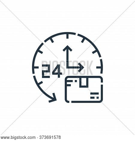 hour clock icon isolated on white background from delivery collection. hour clock icon trendy and mo