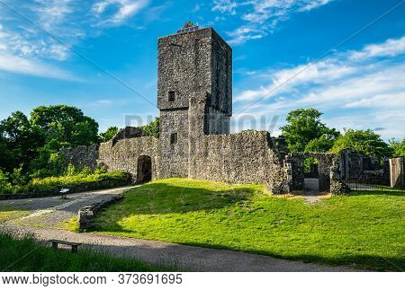 Ruins Of 13th Century Mugdock Castle, The Stronghold Of The Clan Graham In Mugdock Country Park, Sco