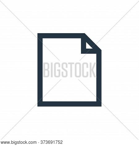 file icon isolated on white background from email collection. file icon trendy and modern file symbo