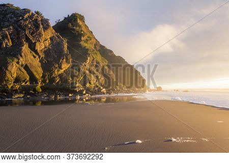 Cape Sebastian At Sunset