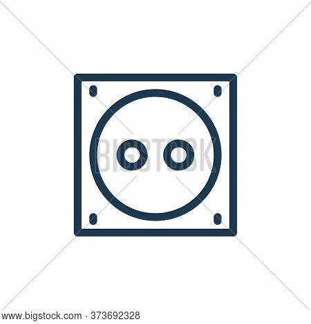 electric socket icon isolated on white background from technology collection. electric socket icon t