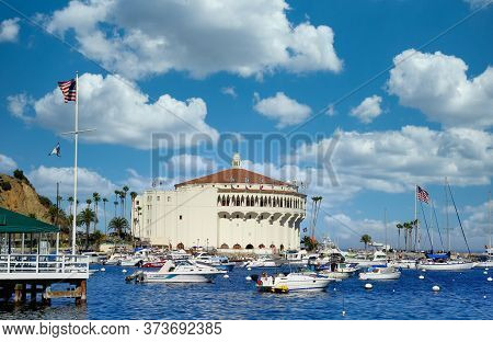Avalon, California - November 17, 2019: Avalon Is A Resort Community With The Waterfront Dominated B