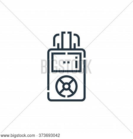voice recorder icon isolated on white background from videoblogger collection. voice recorder icon t
