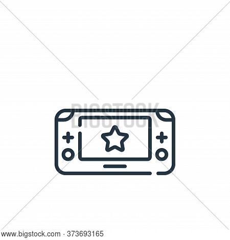 game console icon isolated on white background from children toys collection. game console icon tren