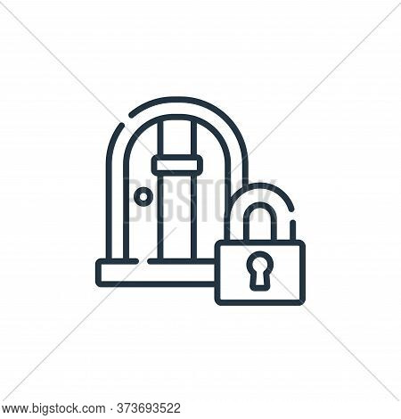 locked door icon isolated on white background from videogame collection. locked door icon trendy and