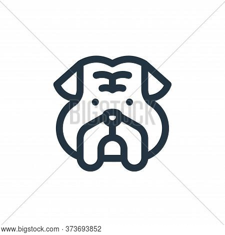 bulldog icon isolated on white background from england collection. bulldog icon trendy and modern bu